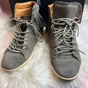 Men's Saint Laurent Gray Suede Sneakers